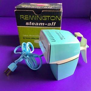 Vintage Remington Travel Steamer Iron - Turquoise